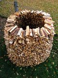 Igloo of wood - a wood drying Royalty Free Stock Photography