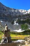 Igloolik dalla racchetta da neve del lago Rawson vicino a Canmore, Alberta, Canada immagine stock libera da diritti