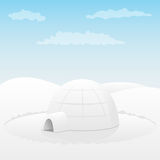 Iglu. Arktische Landschaft Stockbilder