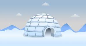 Iglu do Polo Norte Imagens de Stock