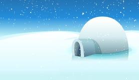 Iglu e fundo gelado polar
