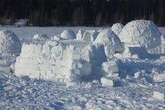 iglu Eskimodorf Lizenzfreie Stockfotos