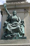 Ignace Bourget Monument in Montreal, Quebec, Canada Royalty Free Stock Photo