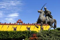 Ignacio allende statue I. Statue of the mexican independence leader ignacio allende, as part of the cityscape of the city of san miguel de allende, located in stock photo