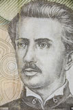 Ignacio Carrera Pinto on the chilean currency Stock Photo
