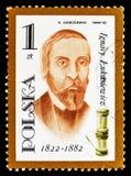 Ignacy Lukasiewicz, Nafcianej lampy nowator, Różnorodny nafcianych lamp seria około 1982, (1822-1882) obrazy royalty free