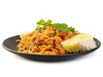 Ignam Naem Khao Thot, Korzenny Tajlandzki jedzenie fotografia stock