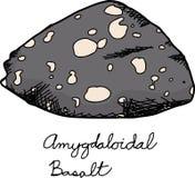 Igneous Basalt Rock Sample Stock Photo