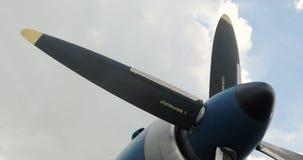 Ignición y propulsor del aeroplano Jet Engine Detalle del motor a reacción almacen de video