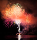 Ignis brunensis. Fireworks on Ignis brunensis celebration royalty free stock photo
