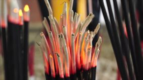 Ignite incense stock footage