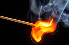 Ignited match and blown off match Royalty Free Stock Photos