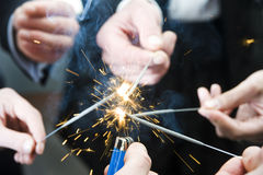 Igniting spark sticks royalty free stock photo