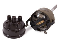 Ignition distributor isolated on white background Stock Photography
