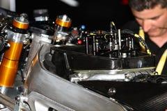 Ignition and front suspension Aprilia RSV4 1000 Factory Superbike WSBK Royalty Free Stock Photo