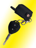 The ignition key. And the alarm system panel Stock Photography