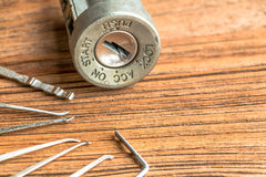 Ignition lock Royalty Free Stock Images