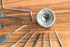 Ignition lock Royalty Free Stock Photo