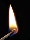 Ignition of a match Royalty Free Stock Image