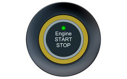 Ignition start button closeup Stock Image