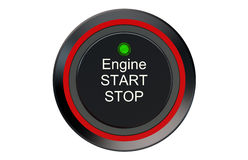 Ignition start button Stock Images