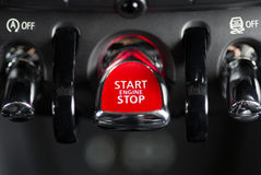 Ignition system. System on and off of a luxury car Royalty Free Stock Photography