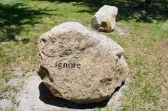 The ignore rock in the University of South Florida. USF Royalty Free Stock Photos