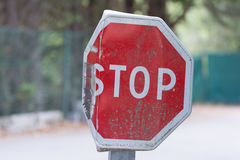 Ignored Stop Sign Royalty Free Stock Photo