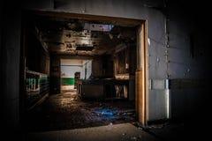 Ignorerat övergett sjukhus fotografering för bildbyråer