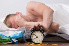 Ignoring alarm clock Royalty Free Stock Photo