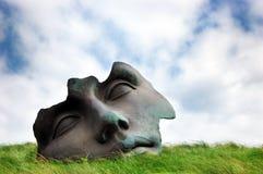igor轻的mitoraj月亮雕塑 免版税库存照片