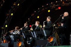 Igor Butman en zijn band het presteren Stock Foto