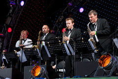 Igor Butman and his band performing Stock Images
