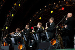 Igor Butman and his band performing Stock Photo