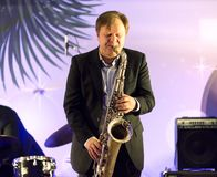 Igor Butman and saxophone Royalty Free Stock Image