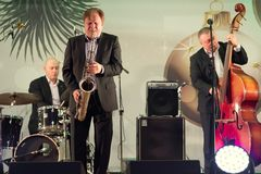 Igor Butman and saxophone Royalty Free Stock Photography