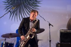 Igor Butman and saxophone Stock Photo
