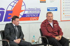 Igor Kholmanskikh et Dmitry Rogozin Photographie stock libre de droits