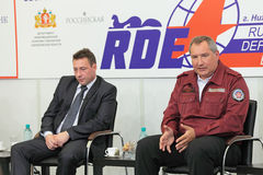 Igor Kholmanskikh y Dmitry Rogozin Fotografía de archivo libre de regalías