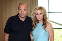 Igor Krutoy and Lara Fabian Stock Photography