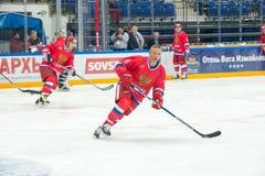 Igor Larionov (8) en avant l'équipe nationale russe Photo libre de droits