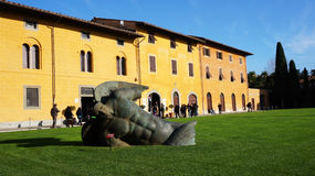 Igor Mitoraj's sculptures on Square of Miracles in Pisa, Italy Stock Image