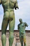 Igor Mitoraj statuy przy Pompeii archeologicznym miejscem, Włochy Obrazy Stock
