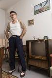 Igor Recek Chorwacki rockabilly fan Zdjęcie Royalty Free