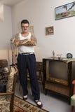 Igor Recek Croatian rockabilly fan Fotografering för Bildbyråer