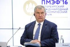 Igor Sechin imagens de stock royalty free