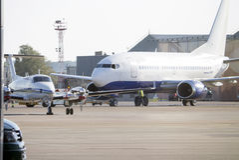 Igor Sikorsky Kyiv International Airport Zhuliany Royaltyfri Bild