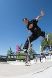 Igor Smith durante la sfida del pattino di CC Immagine Stock