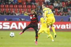 Igor Stasevich BATE Borisov and Wendell Bayer Leverkusen Royalty Free Stock Images