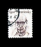 Igor Stravinsky, grande serie dos americanos, cerca de 1982 Fotografia de Stock